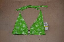 NWT Speedo Size XL Green White Pola Dot Bikini Halter TOP ONLY