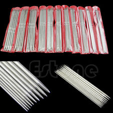 """55Pcs 11sizes 7.9"""" 20cm Double Pointed Stainless Steel Knitting Needles set"""