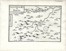 Antique maps, gouvernement de monteclair