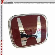 For 06-15 Honda Civic Sedan 4 Door JDM Red H Front Grille Emblem Badge FD FB FG