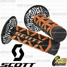 Scott Diamond Orange Black Grips Donuts Medium Soft Waffle Kawasaki KX KXF KLX