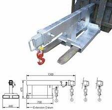 FORKLIFT JIB NEW 2.5 TONNE EXTENDS TO 2 METRES ZINC PLATED LIFTING CRANE