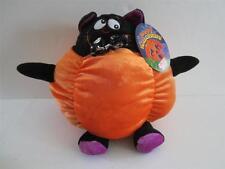 """2011 Boys/Girls Sugar Loaf Toys Plush Black Cat Orange Halloween Pumpkin 9"""" NWT"""