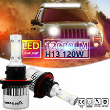 CREE H13 9008 COB LED Headlight Kits Hi/Low Beams 120W 12000LM 6500K White Bulbs