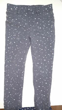 girls gray long strechy pants age 5-6 H&M skinny kids stars trousers pocket