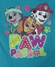 Paw Patrol Teal Blue Screen Printed T-shirt Skye Marshall Everest
