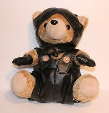 LOVE TO RIDE MOTORCYCLE TEDDY BEAR 12 INCH PLUSH STUFFED ANIMAL VINTAGE TOY