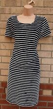 G21 NAVY BLUE WHITE WIGGLE STRIPE NAUTICAL THICK QUALITY TUBE FORMAL DRESS 18