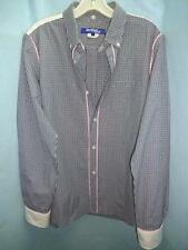 JUNYA WATANABE COMME DES GARCONS BLUE/WHT/BLK MINI CHECK COTTON SHIRT M/L/16/34