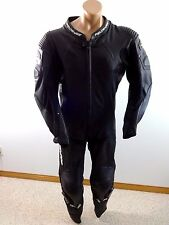 FIELDSHEER MENS BLACK LEATHER MOTORCYCLE RACING SUIT SIZE 48 $1200 RETAIL