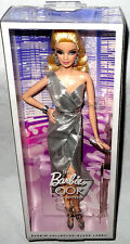 Barbie Doll Look City Shine Figure CFP35 Black Label Silver Dress MIB Mattel Toy