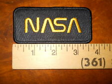 "NASA ""WORM"" INSIGNIA PATCH ( NEW WITHOUT TAGS)"