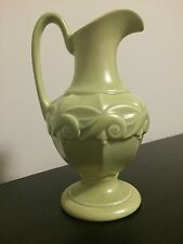 Red Wing Light Green Pottery with White Inside 8 inch pitcher #1081