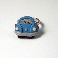 blue beetle bug ring adjustable glow in the dark