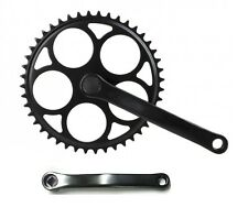 Black Fixie Crankset  Crank Single Speed Crankset 46T