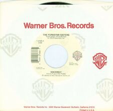 """THE FORESTER SISTERS - Sincerely/On The Other Side Of... 7"""" 45RPM COUNTRY VINYL"""