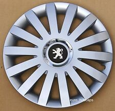 "Set of 4 15"" wheel trims, Hub Caps, Covers to Peugeot 207 (Quantity 4)"