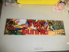 """TOP GUNNER   23 1/2- 6 1/2"""" arcade game sign marquee"""