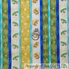 BonEful Fabric FQ Cotton Quilt Green Gold Star Frog Mouse Wizard Sm Harry Potter