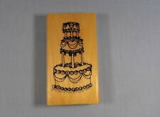 Rubber Stamp Wood - Anita's 1999 Debbie Rogers - Wedding Cake Three Tier