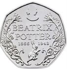 2016 50P COIN BEATRIX POTTER 150 YRS RARE FIFTY PENCE BRILLIANTLY UNCIRCULATED d
