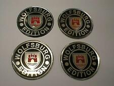 50mm Alloy Wheel Center Centre Badges WOLFSBURG vw