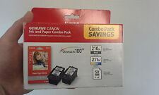 Canon PG-210 XL & CL-211 XL Ink + 50 Sheet 4 x 6 Paper Combo Pack 2973B004