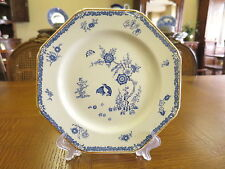 Wood and Sons Plate . Blue and White Quail Design. Circa 1917
