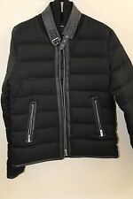 The Kooples Leather Trim Flannel Down Jacket Size M  RETAIL $725