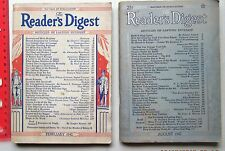 1942 Readers Digest Magazines  2 Issues