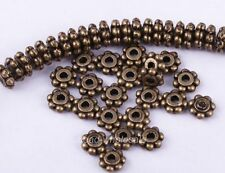 Wholesale 400/1000Pcs Tibetan Silver Daisy Spacer Beads Jewelry Making 4MM 6MM