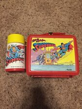Vintage This is a Job for SUPERMAN Aladdin Plastic Lunchbox, With Thermos, 1986!