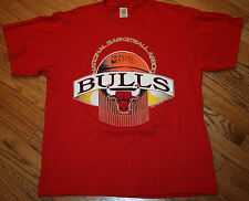 Chicago Bulls 1991 NBA Champions Logo 7 T-Shirt tee Men's XL old school/vintage