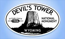 DEVIL'S TOWER National Monument Wyoming Oval Park Bumper Sticker Travel Decal