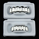 Silver Grillz Platinum Plated Teeth Mouth Grills Bling Hip Hop Gangsta Gangster