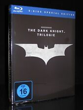 BLU-RAY BATMAN - THE DARK KNIGHT TRILOGIE - BEGINS - RISES - KOMPLETT ** NEU **