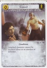 3 x Cowed AGoT LCG 1.0 Game of Thrones House of Black and White 91