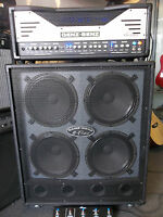 Genz Benz 50/100 watt valve head amp, cab & footswitch. All  new & waranteed.