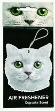 White Cat Air Freshener for Car Auto by Just Funky - GREAT FOR CAT LOVERS!