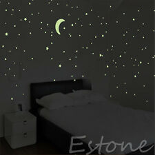 100PCS Light Green Home Wall Glow In The Dark Stars Sticker Stickers Decal Gift