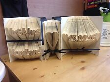 Folded Book Art. Wedding Anniversary Bundle. 3 Books Decorated