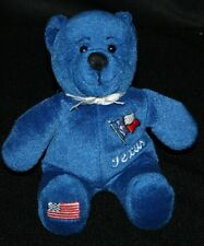 Texas Lone Star State Royal Blue Plush Stuffed Animal Bear Symbolz
