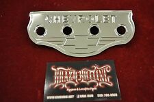 Lowrider Hydraulic 4 Hole Chrome Chevy Logo Switch Plate