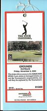 2000 Tour Championship East Lake Nov 3 PGA Ticket Phil Mickelson Winner