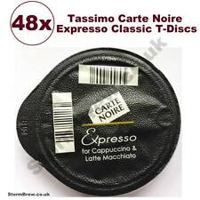 48x TASSIMO CARTE NOIRE ESPRESSO COFFEE T-DISCS (LOOSE) Expresso Pods For Latte
