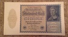 Collectable German Banknote. 10,000 Marks. Dated 1922