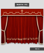 Saaria HT-2 Home Theater Event Stage Movie Hall Decor Curtains Drapes 6'W x 8'H