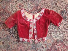 Antique Red Victorian/Edwardian Bodice