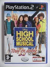COMPLET jeu DISNEY HIGH SCHOOL MUSICAL TOUS EN SCENE playstation 2 PS2 francais