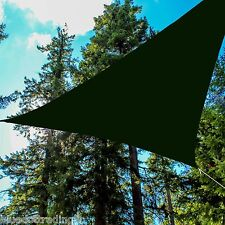 Heavy Duty Green Waterproof Canopy Shade Sail 16.5' Triangle Backyard Awning